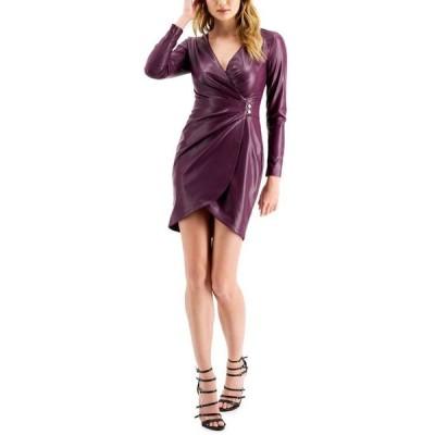 ゲス レディース ワンピース トップス Lexie Faux-Leather Mini Dress