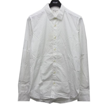 SAINT LAURENT PARIS プレーンシャツ ホワイト サイズ:37-14 (新宿店ANNEX) 210226