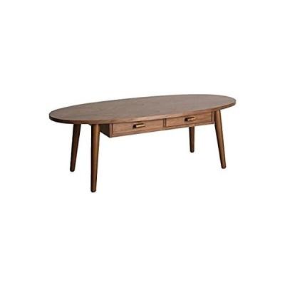 宮武製作所 引き出し収納付きテーブル coln 幅110×奥行48×高さ37cm 引き出し内寸幅25×奥行33.8×高さ4.5cm ブラウン 天然木使