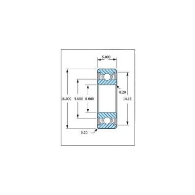 ミネベア ボール・ベアリング DDL-1680HH ステンレス 8x16x5mm