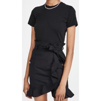 デレク ラム Derek Lam 10 Crosby レディース ワンピース Tシャツワンピース ワンピース・ドレス Hudson Mixed Media T-Shirt Dress Black