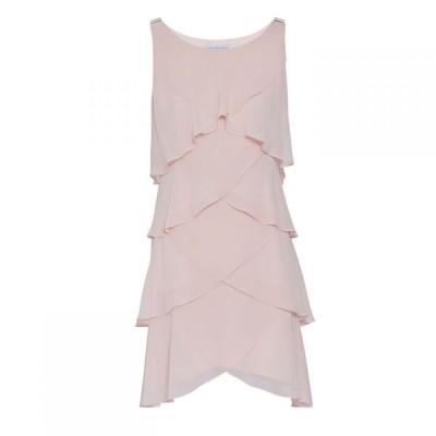 ジーナ バッコーニ Gina Bacconi レディース ワンピース ワンピース・ドレス Vesta Chiffon Tiered Dress Rose