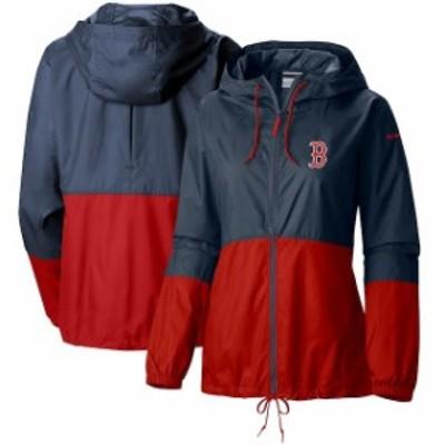 Columbia コロンビア スポーツ用品  Columbia Boston Red Sox Womens Navy Flash Forward Full-Zip Windbreaker Jacket