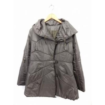 【中古】VIVIAN SPORTS コート アウター 中綿 ビッグカラー ポケット 無地 シンプル 11AR グレー /ST41 レディース