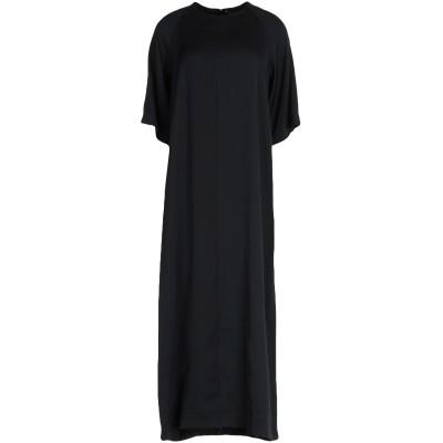 フェデリカ・トシ FEDERICA TOSI 7分丈ワンピース・ドレス ブラック 42 アセテート 71% / レーヨン 29% 7分丈ワンピース・