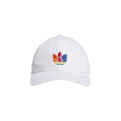 アディダス オリジナルス Originals 3-D Trefoil Strapback メンズ 帽子 White