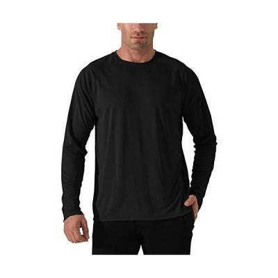 TACVASEN アウトドア レジャー Tシャツ メンズ 無地 カットソー ロングスリーブ Tシャツ UVカット ラッシュガード