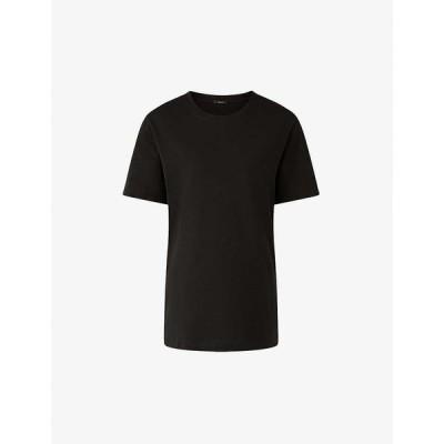 ジョゼフ JOSEPH レディース Tシャツ トップス Round neck cotton T-shirt Black