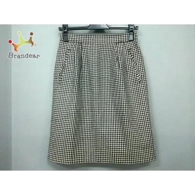 アルファキュービック ALPHA CUBIC スカート サイズ36 S レディース 黒×白             スペシャル特価 20190801