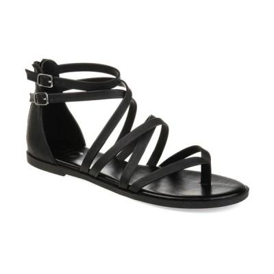 ジャーニーコレクション サンダル シューズ レディース Women's Comfort Zailie Sandals Black
