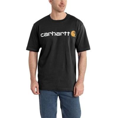 カーハート シャツ トップス メンズ Carhartt Men's Short Sleeve Logo T-shirt Black
