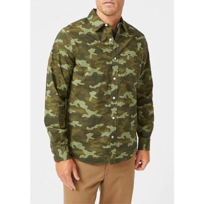 ナウティカ メンズ シャツ トップス Classic-Fit Camouflage Print Poplin Shirt