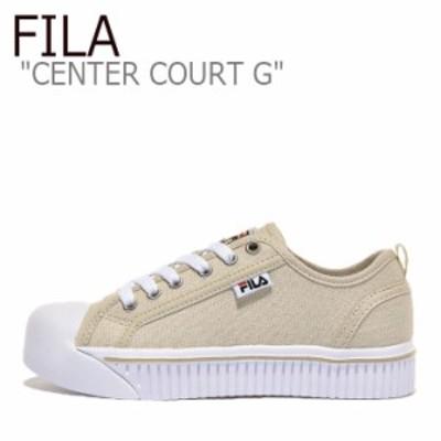 フィラ スニーカー FILA CENTER COURT G センターコート G BEIGE ベージュ WHITE ホワイト 1TM01393D-920 シューズ