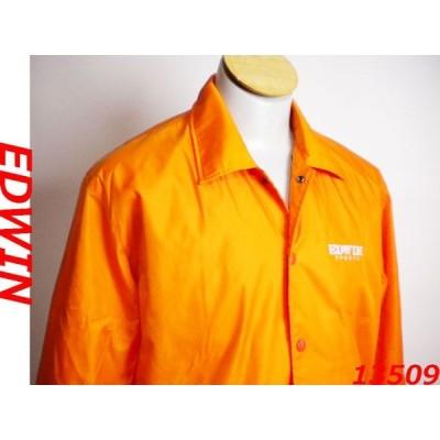 新品 ♪★ エドウィン EDWIN  カバーオール ナイロンジャケット  ウインドブレーカー 橙色 オレンジ サイズM ★ 19612
