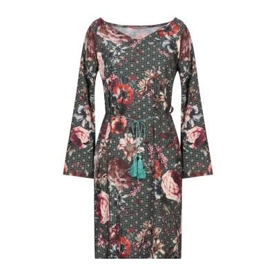 AMELIE RÊVEUR ミニワンピース&ドレス ダークグリーン M/L ポリエステル 100% ミニワンピース&ドレス