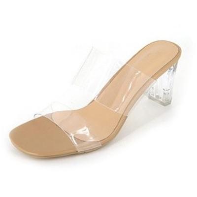 ミュール サンダル レディース ハイヒール 厚底 疲れにくい 透明 厚底サンダル 痛くない 歩きやすい 滑り止め 履きやすい 美脚 夏 新作 送料無料