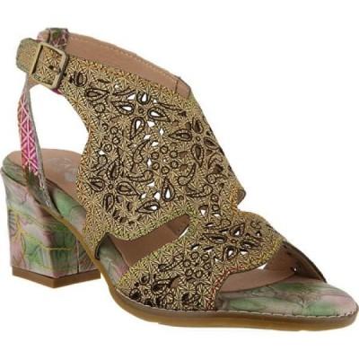 スプリングステップ L'Artiste by Spring Step レディース サンダル・ミュール シューズ・靴 Giti Heeled Sandal Green Multi Leather