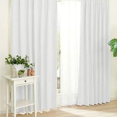 【王様のカーテン】すぐ使える5色7サイズ カーテン4枚セット『アルコン』(ドレープ2枚+レース2枚)遮光 遮熱 ミラーレース 形状記憶 UV