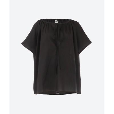 <toteme(Women)/トーテム> DRAPED TUNIC BLOUSE BLACK【三越伊勢丹/公式】