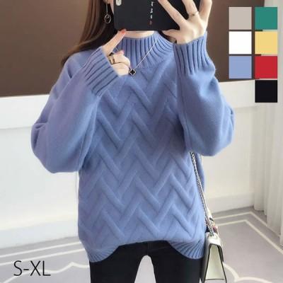 レディース ハイネックセーター セーター ハイネック 韓国ファッション カラー豊富 ニット カジュアル レディースファッション Y's factory