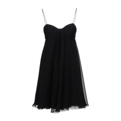 アルマーニ コレッツィオーニ ARMANI COLLEZIONI ミニワンピース&ドレス ブラック 40 100% シルク ミニワンピース&ドレス