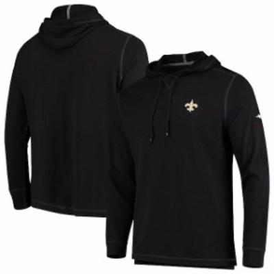 Tommy Bahama トミー バハマ スポーツ用品  Tommy Bahama New Orleans Saints Black Bali Coast Hooded Long Sleeve T-Shirt