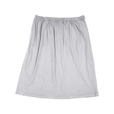 ヒューマノイド HUMANOID ひざ丈スカート ライトグレー XS オーガニックコットン 100% ひざ丈スカート