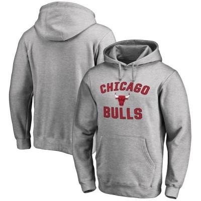 ユニセックス スポーツリーグ バスケットボール Chicago Bulls Victory Arch Pullover Hoodie - Ash トレーナー