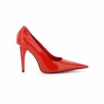 BALENCIAGA/バレンシアガ Red Balenciaga knife shark patent pumps レディース 春夏2021 636615 WB9A0 ik