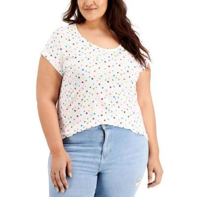 スタイルアンドコー レディース シャツ トップス Plus Size Graphic T-Shirt