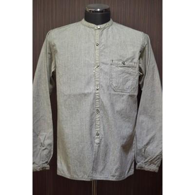 コリンボ COLIMBO バンドカラーシャツ ZS-0305 TOMPKINS SERVER SHIRT杢ベージュ