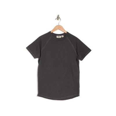 ヘッジ メンズ Tシャツ トップス Organic Cotton Jersey Short Sleeve T-Shirt CHARCOAL M