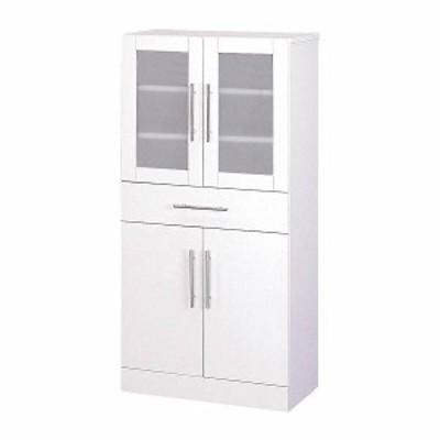 カトレア 食器棚60-120 23463 【送料無料】(食器棚、キッチンボード、キッチン収納家具)