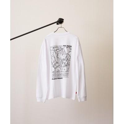 tシャツ Tシャツ 【TONE MEN'S】刺繍バックプリントロンT(BEY)