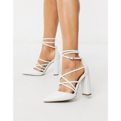 エイソス ASOS DESIGN レディース ヒール シューズ・靴 Pick Me Up high block heels in white