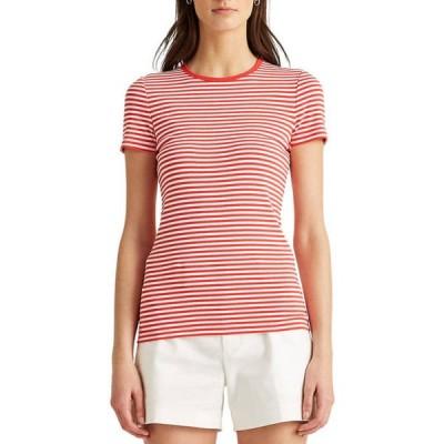 ラルフローレン レディース Tシャツ トップス Striped Cotton-Blend T-Shirt