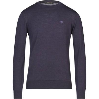 ロベルト カヴァリ ROBERTO CAVALLI メンズ ニット・セーター トップス sweater Dark purple