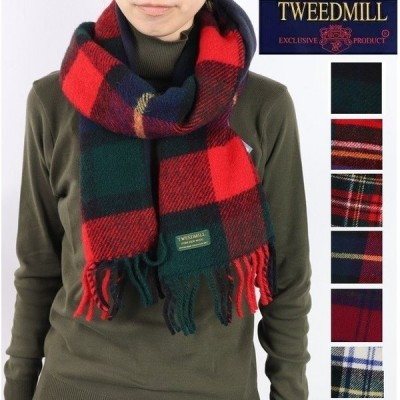 Tweedmill ツイードミル タータンチェック マフラー ストール フリース チェック 英国製 イギリス製 プレゼント ギフト 防寒
