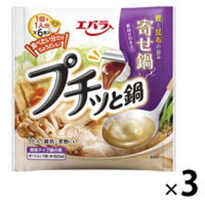 エバラ食品エバラ プチッと鍋 寄せ鍋 138g(23g×6個) 3袋