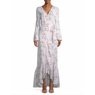 ファースト サイト レディース ワンピース Floral-Print Maxi Wrap Dress