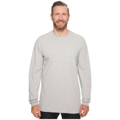 ティンバーランド メンズ シャツ トップス Big & Tall Base Plate Blended Long Sleeve T-Shirt Light Grey Heather