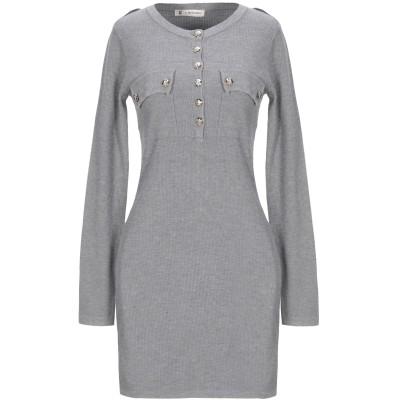 MANGANO ミニワンピース&ドレス グレー XS/S レーヨン 40% / ナイロン 32% / ポリエステル 28% ミニワンピース&ドレス