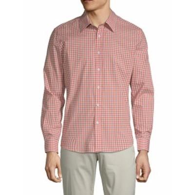 ハイデンヨー メンズ カジュアル ボタンダウンシャツ Plaid Cotton Button-Down Shirt