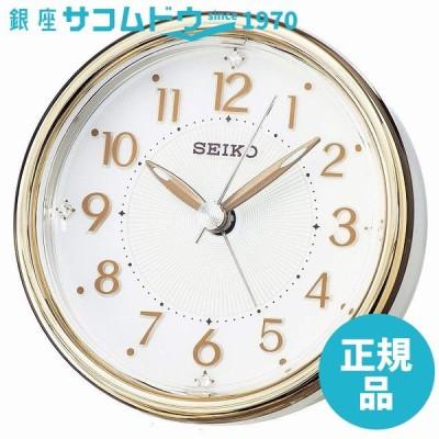セイコー クロック 目覚し時計 置時計 KR897B スイープ 静か 音がしない ライト付 スワロフスキー