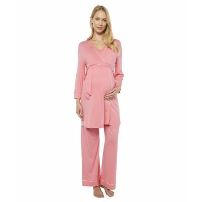 コサベラ ナイトウェア アンダーウェア レディース Bella Maternity Three-Piece PJ Set Quartz Pink/Evening Pink
