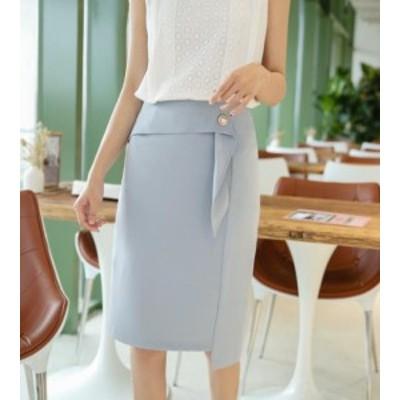 韓国風 S-XXL スカート フレア タイトスカート フォーマル 大きいサイズ ミディアム丈 ミモレ丈  タイトスカート マーメイドライン