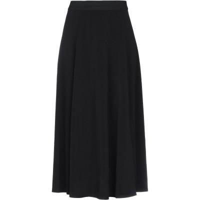 バイ・マレーネ・ビルガー BY MALENE BIRGER 7分丈スカート ブラック S ポリエステル 96% / ポリウレタン 4% 7分丈スカート