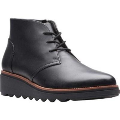 クラークス Clarks レディース ブーツ チャッカブーツ シューズ・靴 Sharon Hop Chukka Boot Black Leather