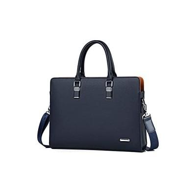 FSDWG ビジネスバッグ 本革 A4サイズ対応 防水 ビジネスバック ブラック ブルー