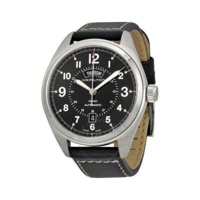 Hamilton/ハミルトン メンズ 腕時計 Khaki Field Black Dial Black 革製 メンズ Watch H70505733